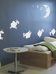 Animal Jumping Sheep Wall Stickers