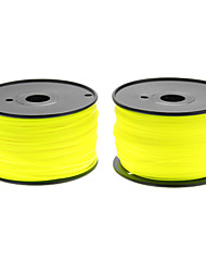 Reprapper 3D Printer Consumables Fluorescent Yellow Color (Optional Wire Diameter and Material) 1 Piece