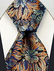 visite coloré imprimé floral cravate