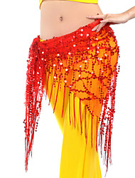 Belly Dance Hip Scarves Women's Training Chinlon Sequins Tassel(s) 1 Piece Hip Scarf