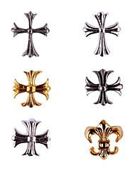 20PCS Bronze Ouro e Prata Retro Chrome Hearts Decorações Nail Art (cores sortidas, No.7-12)
