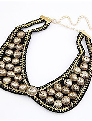 Women's Fake Beads Collar Shape Necklace