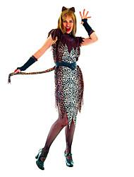 Traje de Carnaval de Indian nativos Leopard mujeres de poliéster (para la altura el 155-170cm)