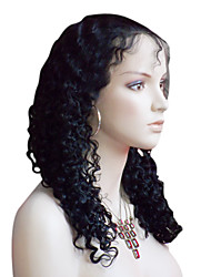 18inch Deep Curl Brazilian Remy Hair Lace Front Wig