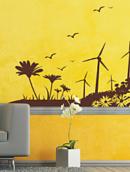 Landscape Windy Field Wall Stickers