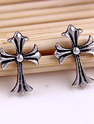 La reine de bijoux de cru de forme de Croix Boucles d'oreilles