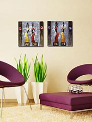 Stretched Canvas Print Art People Jar on Head Set of 2
