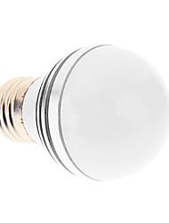 E27 3W 3xHigh Мощность 270LM 6200K Холодный белый свет Светодиодные лампы глобус - Серебряная гарантия (85-265В)