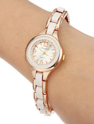 Women's Little Round Dial Alloy Band Quartz Analog Wrist Watch Cool Watches Unique Watches