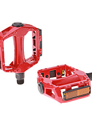 1 Pair Cycling Magnesium Alloy Red Mountain Bike Pedals