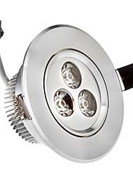 3W 3xHigh Мощность 285LM 6000K холодный белый свет светодиодные утопленный вниз свет - Серебряная гарантия (85-265В)