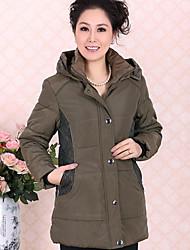 Yitang épais chaud Couture de dentelle manteau rembourré