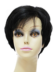 Lace Front short 100% Human Remy Hair Black Straight Bob Hair Wig For Women