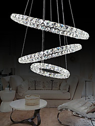 Led Crystal Pendant, Modern Stylish Tricyclic Metal Plating