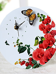 """7 """"H Country Style Butterfly Clock mesa Vivid"""