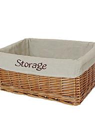 Classic ricamato Lino Basket archiviazione