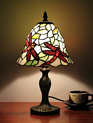 25W Tiffany Style Glass Table Light Dragonfly Pattern