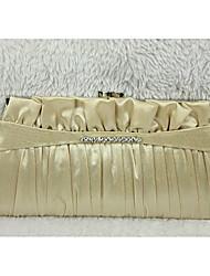 Cadeia de seda Drape saco de noite