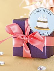 Персонализированные пользу тегов - белый торт ко дню рождения (набор из 36)