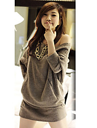 Sexy O Neck Batwing Sleeve Knitted top Jumper Loose Sweater Pullover
