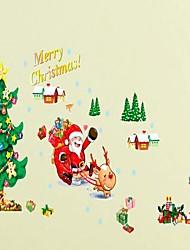 3rd Generation Christmas Santa Claus DIY Adhesive Removable Wall Decal