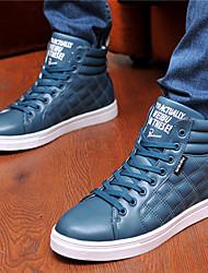 Costura Casual zapatos de alta Tendencia punto para hombres (azul marino)