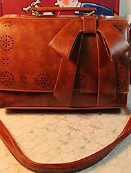 ESCODA Vintage Bow Uitsnede Tote / crossbody (Brown)
