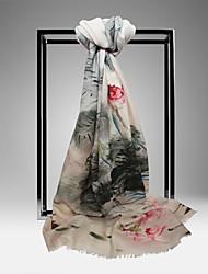 Meizhi Женская Непал Импорт Чистая шерсть 200 * 70см Серый шарф