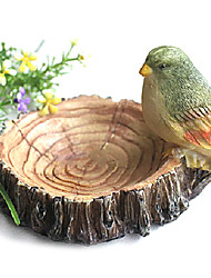 Chinese Style Bird And Wood Pile Ashtray
