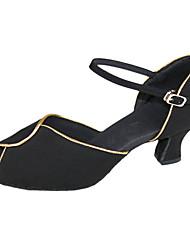 Frauen Einfache Wildleder chuncky Heel Ankle Strap Latin Dance Sandles
