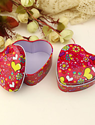 "12 Piece/Set Favor Holder - Heart-shaped Tins Favor Tins and Pails ""Butterflies Love Flowers"""