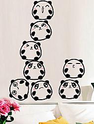 Cartoon pyramide pandas mignons autocollants de fenêtre