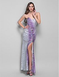 Sheath/Column Sweetheart Floor-length Pattern Sequined Refined Evening Dress