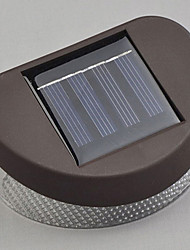 White Light LED Solar Light Path Wall Landscape Mount Garden Fence Light
