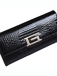 Ladie's Western Patent Leather Long Wallet