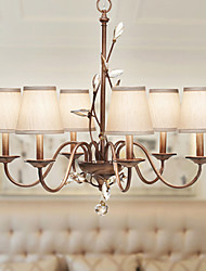 K9 Crystal Chandelier, 6 Light, Creative Dainty Iron Painting