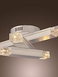 60W Moderne Unterputz mit 3 Metall Bar angehäuft oben Stilvolles Design 6 Leuchten