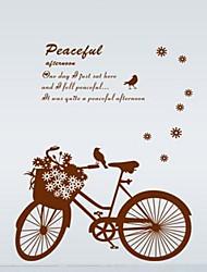 Romantic Bikes Pattern DIY Adhesive Removable Wall Decal