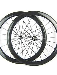 23 millimetri Larghezza 700C Full Carbon 50 millimetri copertoncino bici da strada / Ruote bici