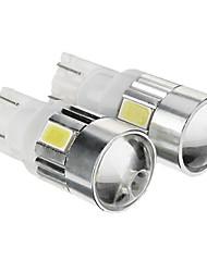 T10 Blanc froid 1W SMD 5730 6000 Lumières pour tableau de bord Eclairage plaque d'immatriculation Feux clignotants Feux stop