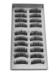 10 Pairs Black Handmade Fiber Eyelash False Eyelashes