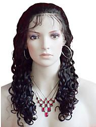 16inch Kinky Curl brésilien Remy Hair Lace Front Wig