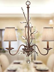 K9 lampadario di cristallo, 3 Light, artistico Pittura Ferro Tessuto