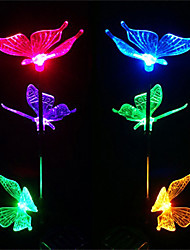 Solar Power Color Changing Garden Light Butterfly Lamp(CIS-57240)
