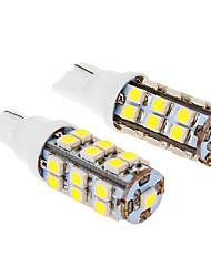 T10 3W 25x3020SMD 280LM 5500-6500K Cool White Light Bulb LED para carro (12V, 2pcs)