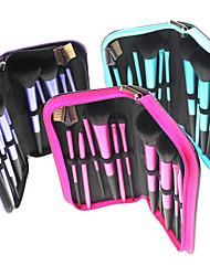 Pro haute qualité 11 PC synthétique maquillage de cheveux Brush Set Brush sac de soirée (3 couleur)