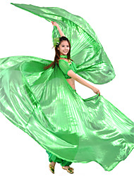 Dance Accessories Isis Wings / Stage Props Women's Training Polyester Green / Red / Royal Blue / Yellow Belly Dance / PerformanceSpring,