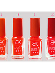 BK color del caramelo fluorescente Nail No.16-20 polaco