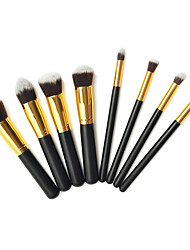 8pcs Makeup Brushes set Professional Silvery/Gold Powder brush Blush brush Eyeshadow Brush High Quality Makeup Kit Synthetic Hair Cosmetic Brushes
