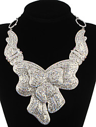 Charming Alloy Silver Plated With Clear Rhinestone Bridal Jewelry Set(Necklace,Earrings)